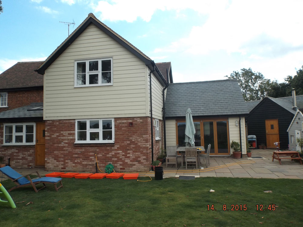 Two storey and single storey extensions