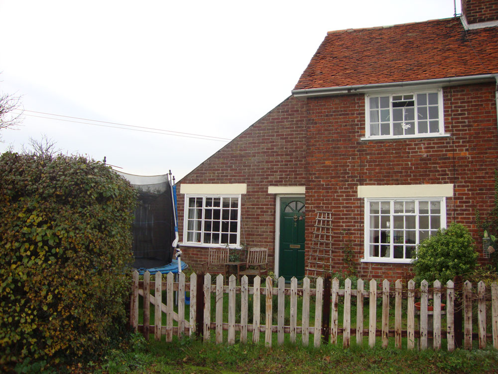 Front of cottage before extensions were built