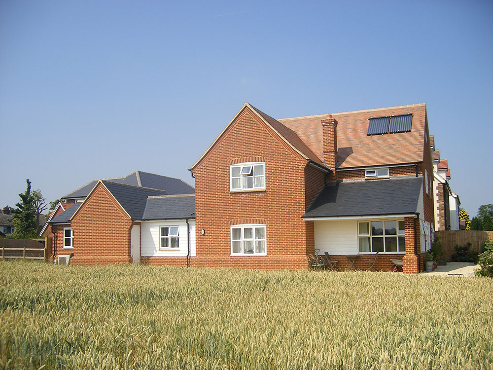 Duel aspect windows to the living room benefit from countryside views.