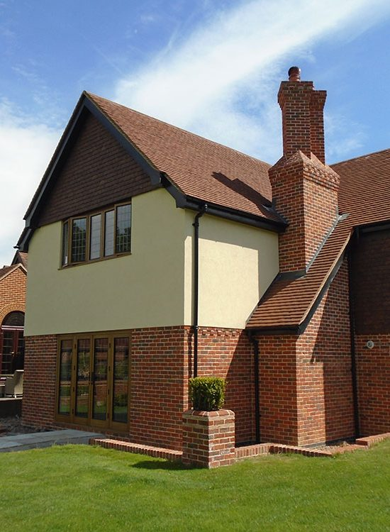 New two storey extension including decorative brick chimney