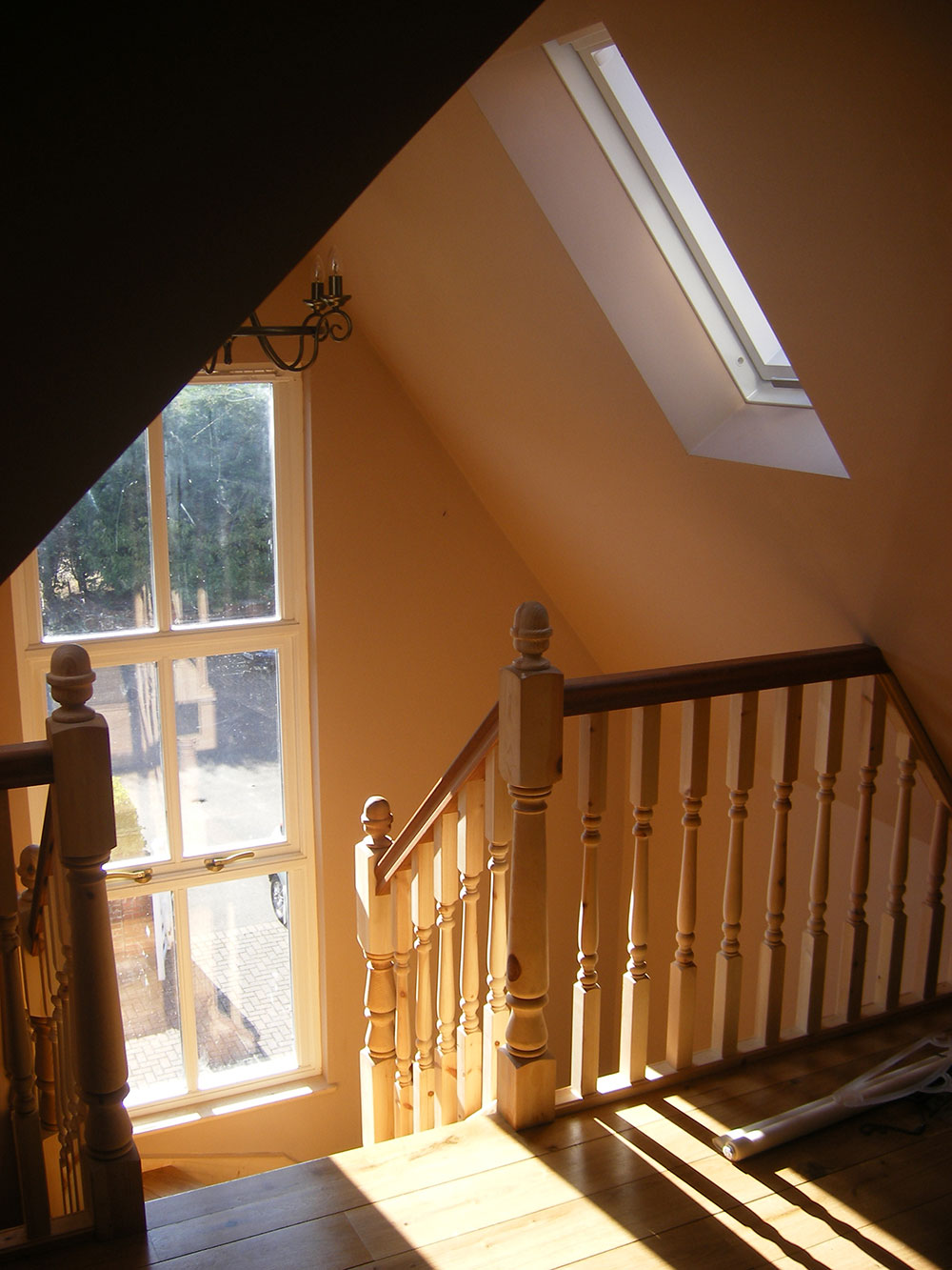 New staircase accessing the loft conversion